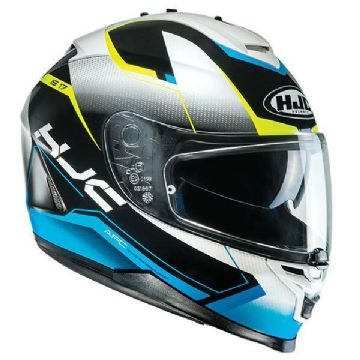 HJC IS-17 Loktar Blue Full Face Motorcycle Motorbike Helmet XL 2XL RRP £179.99